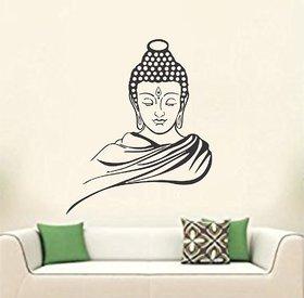 Asmi Collections Wall Stickers God Buddha - Black