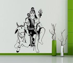 Asmi Collections Wall Stickers God Shiva with Nandi
