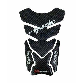 Customize TVS Apache Racing Bike Black Tank Pad Sticker