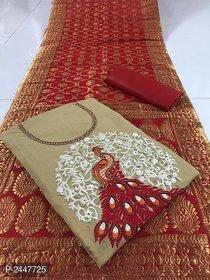 stylezone Stylish Modal Silk Dress Material-tm6103beige
