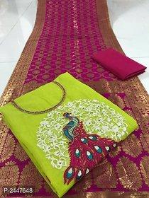 stylezone Stylish Modal Silk Dress Material-tm6103green