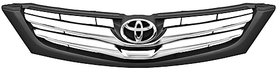 Front Bumper Grill for Toyota INNOVA (Black with Half Chrome)