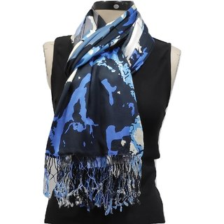Monika Collection Beautiful Satin Printed Stole
