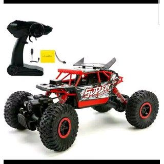 DY Rock Leader 2.4Ghz 1/18 RC Rock Crawler Buggy Car with Spoilers 4 WD Remote Control Monster Off Road (MultiColor)