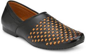 Brawo Men's Slip-on Black Designer Loafer