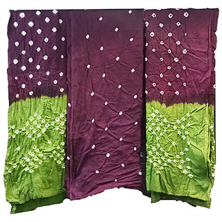 AZAD DYEING Bandhani Cotton Unstitched Dress Material for Girls / Women