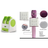 Air conditioner Mini cooler and Q7 mic comaptiable with all Smart phone  || Mini cooler|| Mini Air conditioner || Mini AC || Portable Fan|| Mini fresh Air cooler || High speed cooler