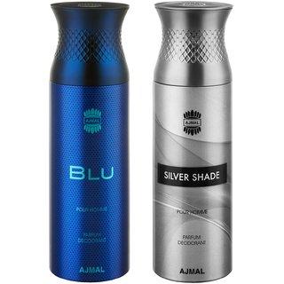 Blu  SilverShade Deodorants for Men pack of 2