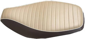 Spidy Moto PU Leather Brown And Beige Seat Cover For New TVS Jupiter