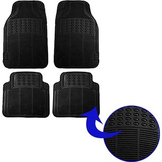 Black Car Foot Mats (Set Of 4) For Suzuki Wagon R