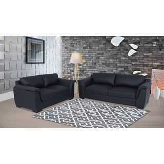Houzzcraft apple sofa set 3+2 in leatherette