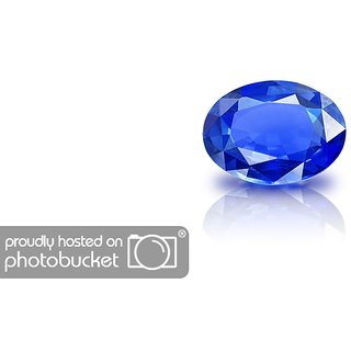 Gurpreet Gems Sapphire/Neelam 7.50 ratti Stone for Men (Blue)