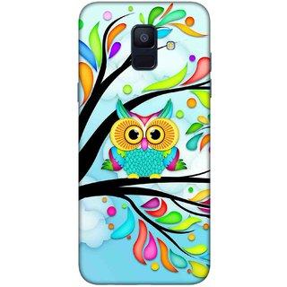 Digimate Printed Designer Hard Plastic Matte Mobile Back Case Cover For Samsung Galaxy A6 Design No. 1187