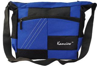 Kamview Men's Blue Polyester cross body messenger bag (MB-BLB)