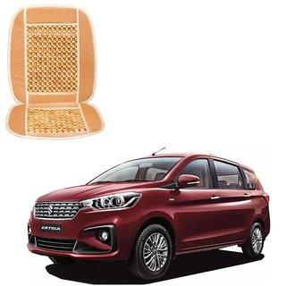Auto Addict Car Seat Wooden Bead Seat Cover Cushion with Beige Velvet Border For Maruti Suzuki Ertiga New 2019