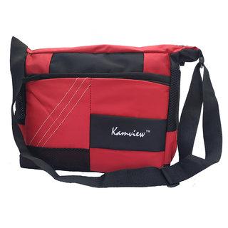 Kamview Men's Red Polyester cross body messenger bag (MB-RB)