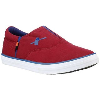 Sparx Men's SM-255 Cherry Casual Moccasins Loafer Canvas Shoes