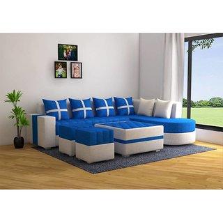 Houzzcraft Brazil L shape sofa in fabric