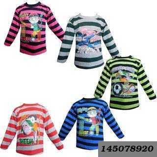 Full Sleeves Tshirt (Kavin) Pack Of 5 Multicolor