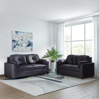 Houzzcraft carry sofa set in leatherette