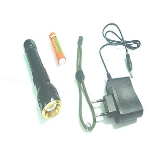 just one click ZY T 100 Rechargeable LED Flashlight Torch Very Powerful