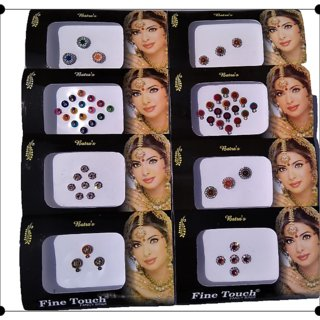 Vankab Generic Fency Bindi - Set of 8 Pack -Different Designs