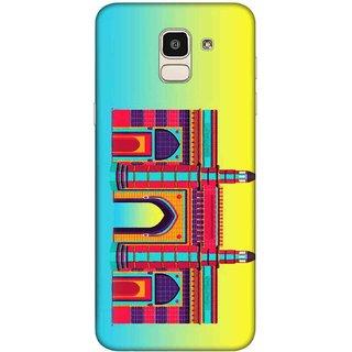 Digimate Printed Designer Hard Plastic Matte Mobile Back Case Cover For Samsung Galaxy J6 Design No. 0944