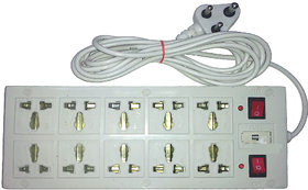 Extension Cord Board B3 4 yard wire 10 Socket + 2 Switch Multiplug Power Strip!!