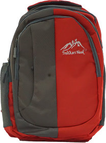 Trekkers Need Double Shade School Bag High Fashion (Red)