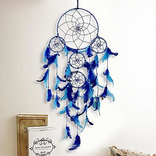 Meher Collection 5 Rings Large Dream Catcher Traditional Indian wall Art for Bedrooms, Home Wall, Hanging Design