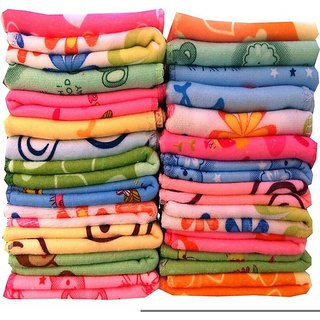 MD Multicolor Cotton 300 GSM Solid Face Towels - Set of 5 (Assorted)