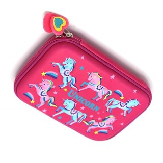 Little Swag Unicorn Embossed Pen Pencil Holder Case Box  Girl Cosmetic Makeup Stationery Organizer for Kids Girls