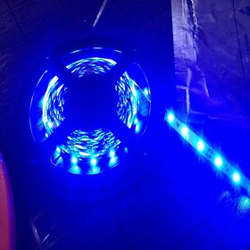 Premium  5 Meter Blue Color LED SMD 12V DC Non Water Proof Strip With Free Adapter