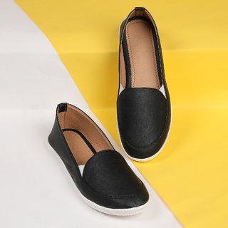 buy sindhi footwear women's black rexin casual shoe online
