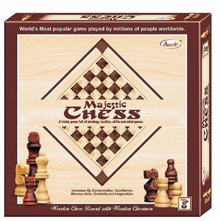 JGG Jain Gift GalleryMagnetic Chess (Wooden)Mind Power Game for Kid /Increase IQ/Memory Skills