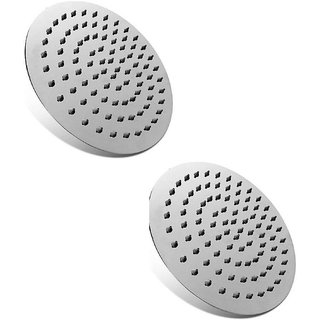 Intenzo 12x12 Ultra Slim Round Rain Shower Head without Arm-Pack of 2