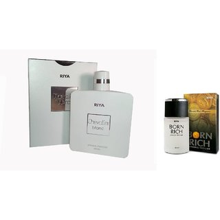 Riya Chevalier nair 100 ml , born rich 30 ml Eau de Parfum - 130 ml