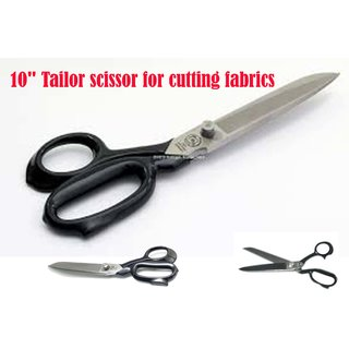 Tailor scissor Iron Made (10 Inch) for cutting fabrics (women boys and girls) 1 Pics