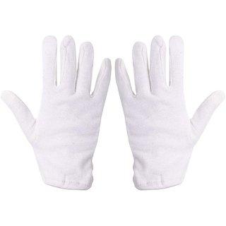 UXOS Men's  Women's Cotton Hand Palm Full Finger Summer Gloves