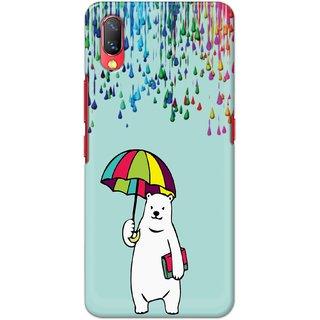Ezellohub Printed Hard Mobile back cover for Vivo Nex - teddy umbrella
