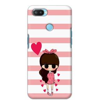 Ezellohub Printed Hard Mobile back cover for Oppo Realme 2 Pro - girl heart