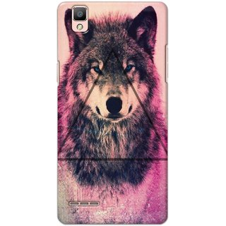 Ezellohub Printed Hard Mobile back cover for Oppo F1 - wolf