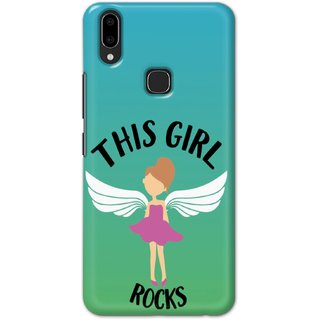 Ezellohub Printed Hard Mobile back cover for Vivo V9 - this girl