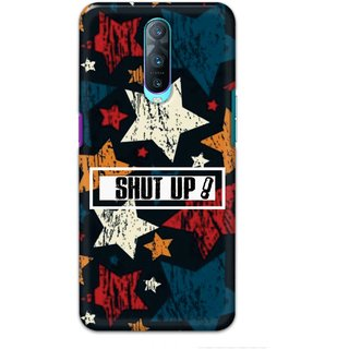 Ezellohub Printed Hard Mobile back cover for Oppo R17 Pro - shut up star