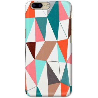 Ezellohub Printed Hard Mobile back cover for OnePlus 5 - abstract gemotric