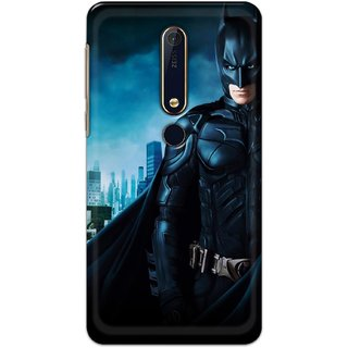 Ezellohub Printed Hard Mobile back cover for Nokia 6.1 Plus - Batman
