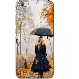 Ezellohub Printed Hard Mobile back cover for Vivo V5s - alone girl