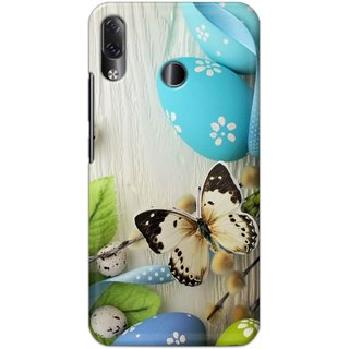 Ezellohub Printed Hard Mobile back cover for Lenovo Z5 - stone butterfky