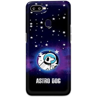 Ezellohub Printed Hard Mobile back cover for Oppo F9 - astro dog