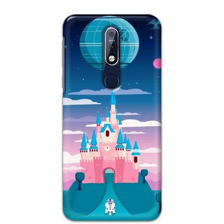 Ezellohub Printed Hard Mobile back cover for Nokia 7.1 - disney